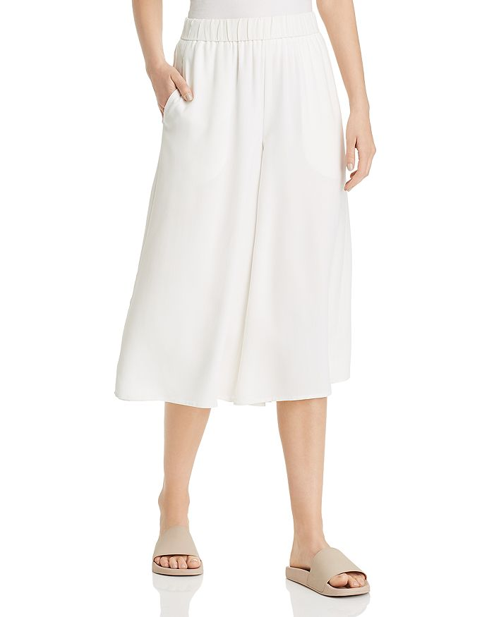 Eileen Fisher - Cropped Silk Palazzo Pants