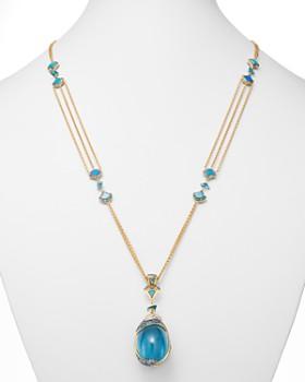 JOHN HARDY - 18K Gold Cinta Naga Toya One-of-a-Kind Pendant Necklace with Diamonds & Gemstones - 100% Exclusive