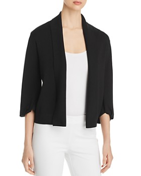 Donna Karan - Open-Front Cropped Cardigan