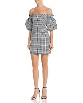 GUESS - Dawn Off-the-Shoulder Gingham Dress