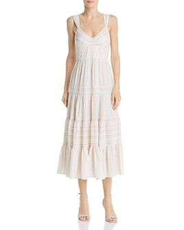 Rebecca Taylor - Alice Striped Tiered Dress