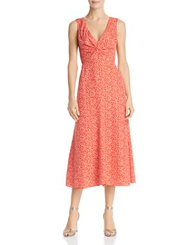 Rebecca Taylor - Malia Twist-Front Floral Dress