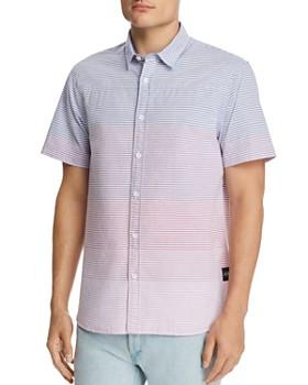 Scotch & Soda - Short-Sleeve Gradient-Stripe Regular Fit Shirt