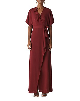 Whistles - Nova Ruffled Wrap Gown