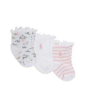 Ralph Lauren Girls Floral Icon Socks 3 Pack  Baby