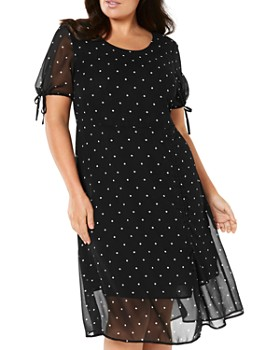 af9abbcbf5 Estelle Plus - Sydney Dot-Print Dress ...