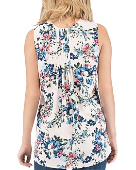 B Collection by Bobeau - Lily Sleeveless Floral-Print Top