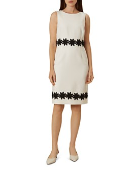 HOBBS LONDON - Louise Crochet-Trim Sheath Dress