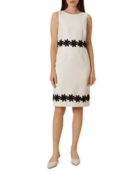 HOBBS LONDON - Louise Crochet-Trim Sheath Dress