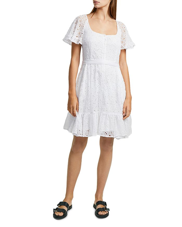 02f1849a87bd FRENCH CONNECTION Circeela Embroidered Eyelet Mini Dress ...