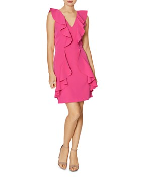 Laundry by Shelli Segal - Ruffle Cocktail Dress