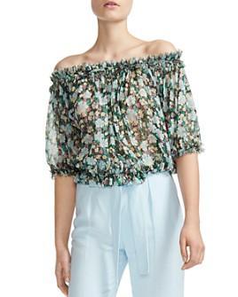 Maje - Lulli Off-the-Shoulder Floral Top