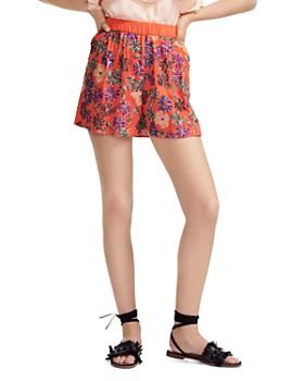 2cbf1dda78 Maje - Izul Sequined Floral Mini Shorts ...