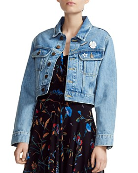 Maje - Vavini Cropped Denim Jacket
