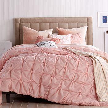 Peri Home - Check Smocked Comforter Set, Twin