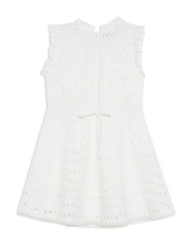 Bardot Junior - Girls' Lorrie Eyelet Fit-and-Flare Dress - Big Kid
