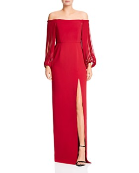 3131d4ff6e0 HALSTON HERITAGE - Off-the-Shoulder Gown ...