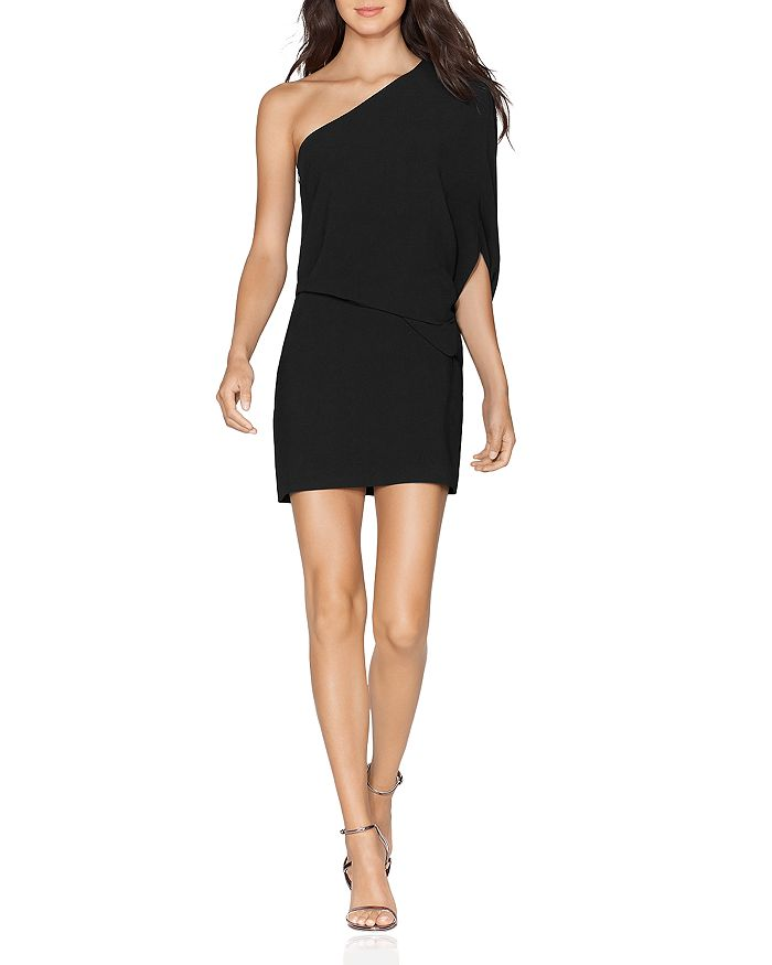 HALSTON - One-Shoulder Mini Dress