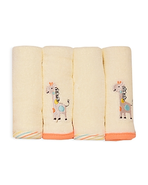 Little Me Unisex Giraffe Wash Cloths, Pack of 4 - Baby