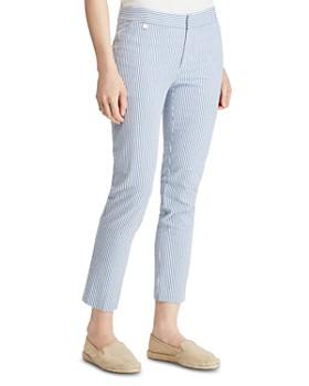 Ralph Lauren - Seersucker Cropped Skinny Pants