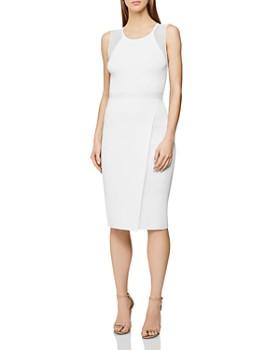 REISS - Leila Sheer-Inset Dress