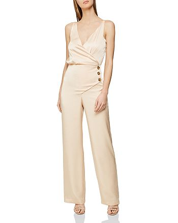 wholesale price official photos new season REISS Antonia Button-Detail Jumpsuit | Bloomingdale's