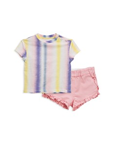 Sovereign Code - Girls' Camille + Chella Tie-Dye Tee & Ruffle Shorts Set - Baby
