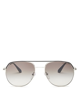 489938b20dd Prada - Men s Polarized Brow Bar Aviator Sunglasses