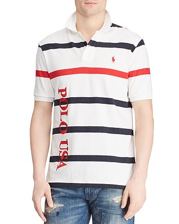 Polo Ralph Lauren - Americana Striped Terry Classic Fit Polo Shirt
