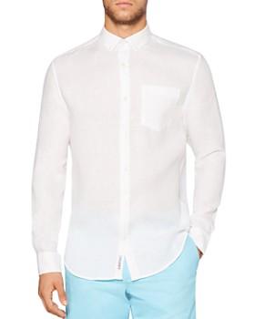 Original Penguin - Linen Regular Fit Button-Down Shirt