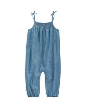 dda1e0209 Ralph Lauren - Girls' Indigo Cotton Chambray Romper - Baby ...