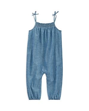 Ralph Lauren Childrenswear Girls Indigo Cotton Chambray Romper  Baby
