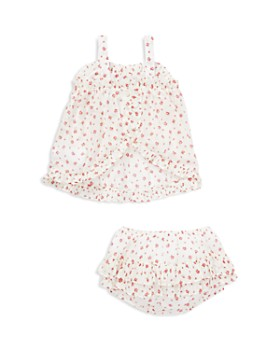 Ralph Lauren - Girls' Floral Ruffled Top & Shorts Set - Baby