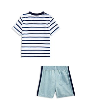 Ralph Lauren - Boys' Striped Tee & Chambray Shorts Set - Baby