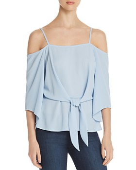 6c5ac72445873 VINCE CAMUTO - Tie-Front Cold-Shoulder Top - 100% Exclusive ...