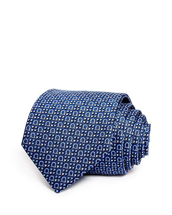 Salvatore Ferragamo - Formia Woven Gancini Classic Silk Tie