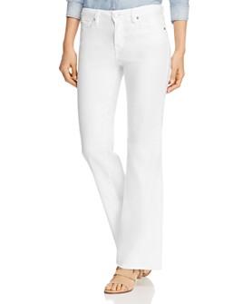 Level 99 - Janelle Flared-Leg Jeans in Optic White