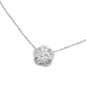 Pasquale Bruni - 18K White Gold Ton Joli - Je T'aime Diamond Flower Pendant Necklace, 17""