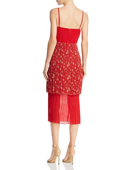 Fame and Partners - Tiered Pleated Midi Dress