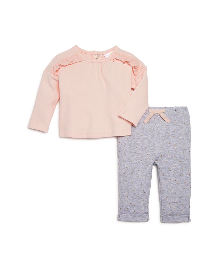 Bloomie's - Girls' Polka-Dot Pants & Ruffled Top Set, Baby - 100% Exclusive