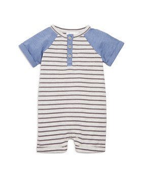 Bloomie's - Boys' Striped Short Coverall, Baby - 100% Exclusive