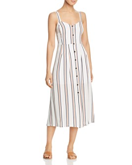 Velvet Heart - Sleeveless Striped Midi Dress