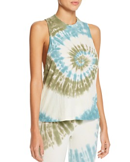 Electric & Rose - Flower Tie-Dye Jersey Tank