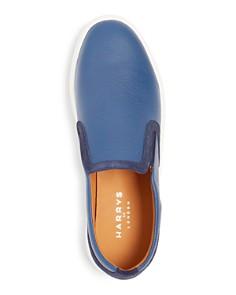 Harrys of London - Men's Frisky Milled Leather Slip-On Sneakers