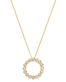 Bloomingdale's - Bezel-Set Diamond Circle Pendant Necklace in 14K Yellow Gold, 1.0 ct. t.w. - 100% Exclusive