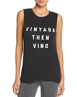 Social Sunday - Vinyasa Then Vino Muscle Tee