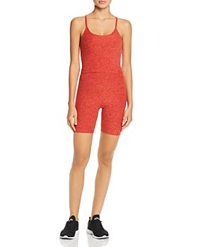 Beyond Yoga - Space-Dye Racerback Cropped Top & Biker Shorts