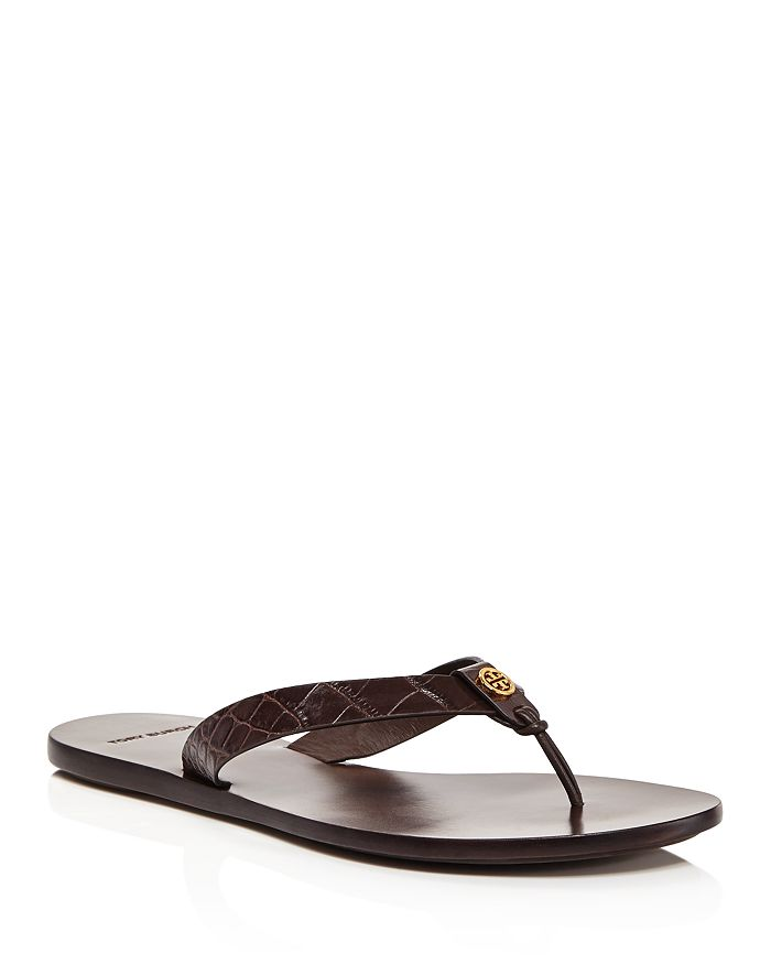 Tory Burch - Women's Manon Embossed Leather Flip-Flops