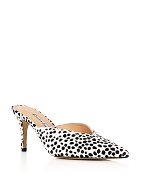 Charles David - Women's Askan Snow Leopard Mid-Heel Mules