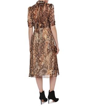 ba&sh - Rozy Animal-Print Shirt Dress